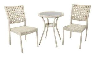 Small Patio Furniture Set Outside Metal Chairs and Table Set Aluminum Outdoors Deck for Sale in Chicago, IL