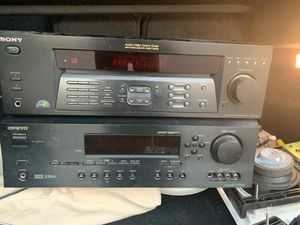 STEREO SYSTEM - SONY + ONKYO + 4 SPEAKERS for Sale in Hollywood, FL