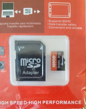 128GB Micro SD Card w/ Adapter for Sale in Tempe, AZ