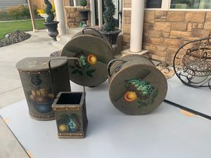 Set of 4 kitchen Decour canisters for Sale in West Richland, WA