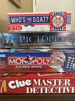 Board Games Lot - Disney Pictopia, Who's The Goat, Clue and More for Sale in Fullerton,  CA