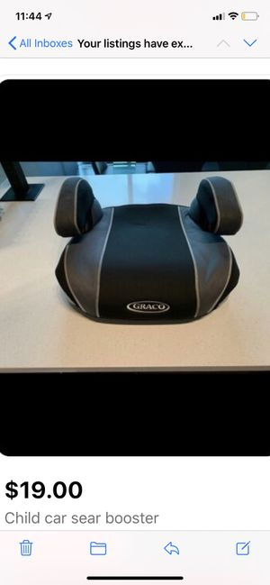 Child booster car seat (pick up from Brickell) for Sale in Miami, FL