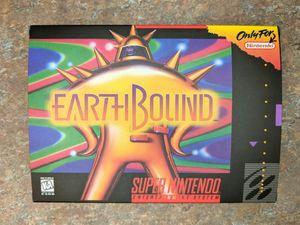 Earthbound w\ Box & Insert New Super Nintendo Reproduction SNES for Sale in Orlando, FL