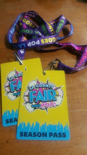 LA county fair tikets season pass $19.99 and coupon book $5 inside a free tiket to fair & discounts for food,drinks $5 off fast pass & more for Sale in March Air Reserve Base, CA