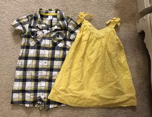 FREE SHIPPING! Like-NEW! Boy/Girl twin matching/coordinating outfit set. Romper & dress. Size 24 months / 2T $17 for Sale in Leander, TX