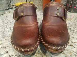 Beautiful Frye Leather Clogs/Slides for Sale in Fort Worth, TX