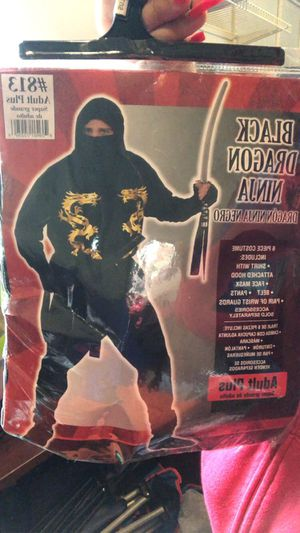 Adult ninja coustume for Sale in Elgin, IL
