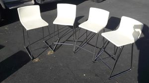 """A set of bar chairs. H seats=26"""". Genuine soft beige leather for Sale in Los Angeles, CA"""