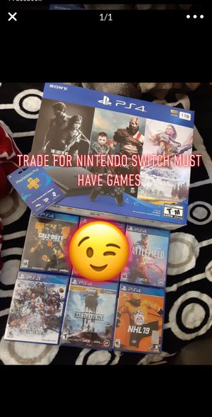 Ps4 slim 1tb trade for nintendo switch for Sale in San Jose, CA