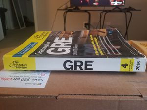 The Princeton Review 2016 GRE guide for Sale in Tyler, TX