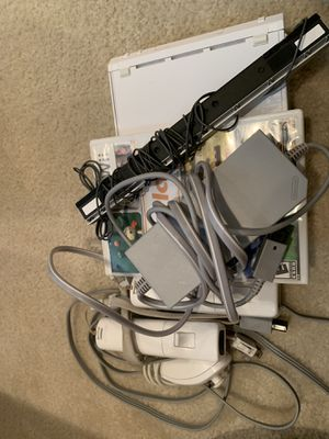 Wii console with 3 games for Sale in Springfield, VA
