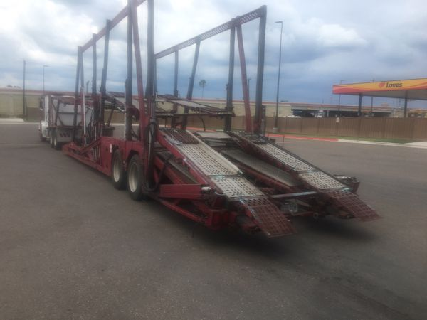 Car carrier trailer parting out