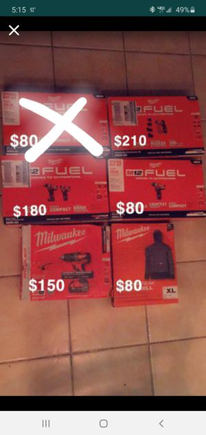 Milwaukee varios tools available prices are on each pictures for Sale in Frederick, MD