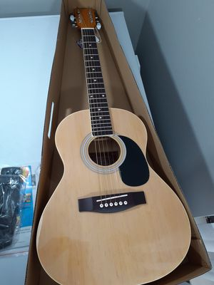 Brand New Spectrum Student Size Acoustic Guitar with strap and original box for Sale in Arlington, TX