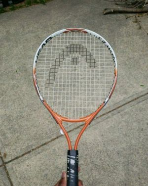 Orange and white youth tennis racket for Sale in Gahanna, OH