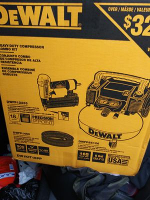 Dewalt compressor combo kit... Dw1kit18pp for Sale in SeaTac, WA