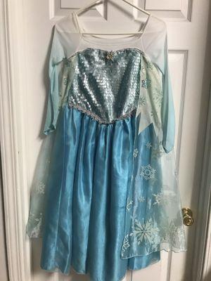 Disney store authentic Elsa Frozen dress costume size 7/8 for Sale in Crestview, FL