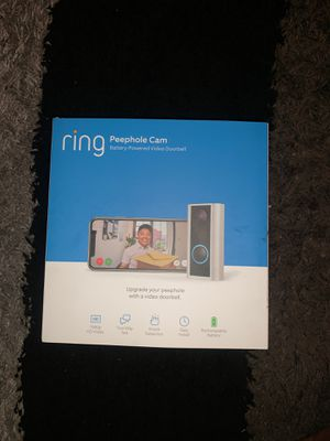 Ring doorbell peephole cam for Sale in Brooklyn, NY
