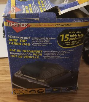 Keeper waterproof roof top cargo bag 15 cubic feet for Sale in Chantilly, VA