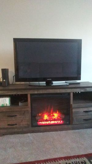 Rustic Farmhouse TV Stand Fireplace for Sale in Virginia Beach, VA