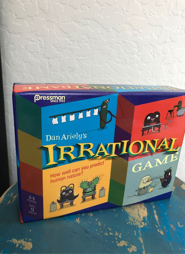 New Irrational game - 2 to 5 players. Ages 12 and up