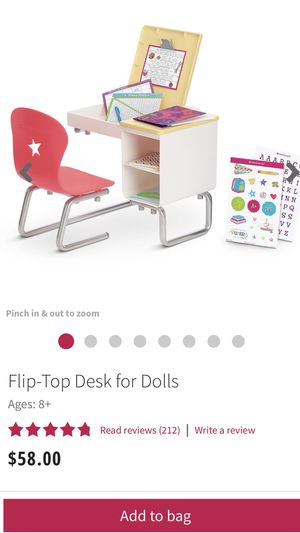 American Girl - Flip-Top Desk for Dolls for Sale in Lorton, VA