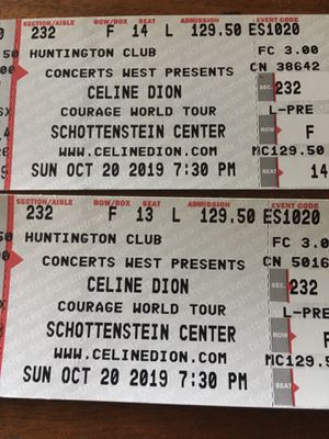 Celine Dion Tickets for Sale in Milton, WV