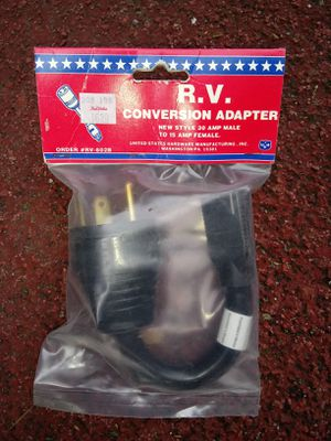 RV Electrical Conversion Adaptor Cord 30Amp to 15 Amp for Sale in Lakewood, WA