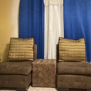 Two Sofa Chairs And Two Side Cubed Tables for Sale in Las Vegas, NV