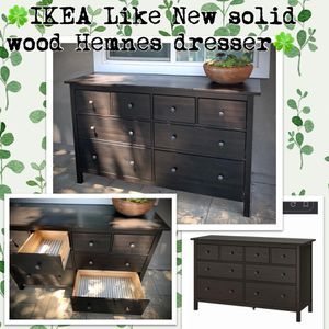 ✨IKEA Like New black brown eight drawer solid wood dresser✨ for Sale in El Monte, CA