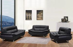 New sofa set black bonded leather for Sale in South Hill, WA