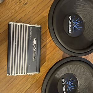 """To 15"""" SoundStream Subs And 1000D Class SoundStream Amp Very Nice 325 for Sale in Jefferson City, MO"""