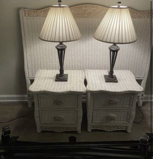 Wicker Queen Bedroom Set for Sale in Palm Desert, CA