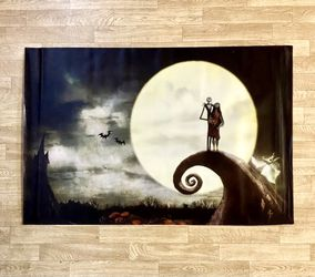 """Nightmare Before Christmas Fabric Poster - Jack & Sally & Zero - 36"""" X 24"""" - Please Observe All Pictures - New for Sale in Burien,  WA"""