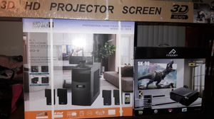 Home Theater Projection System (complete) for Sale in Corpus Christi, TX