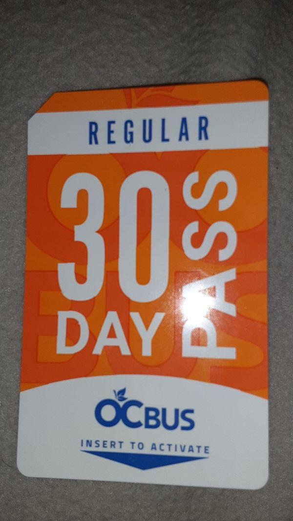 30 day buss pass