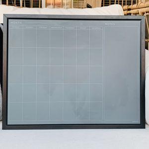 Framed Chalkboard Monthly Calendar for Sale in Chula Vista, CA