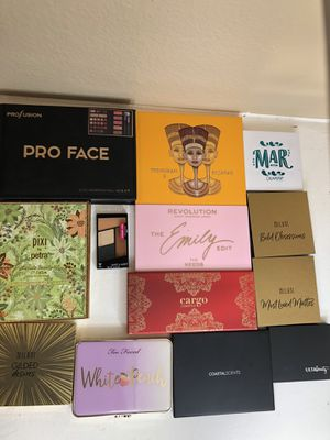 Cruelty free eyeshadow palette makeup beauty bundle - Too Faced, Colourpop, Juvia's Place, and more! for Sale in San Diego, CA