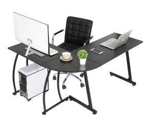 NEW - Modern L-Shaped Laptop Corner Desk Computer Desk Table, Home Office Writing Workstation Black for Sale in Centreville,  VA