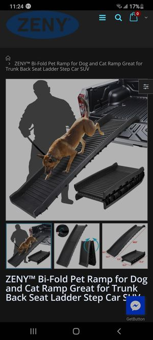 Zeny bi-fold pet ramp for dog and cat for Sale in San Jose, CA