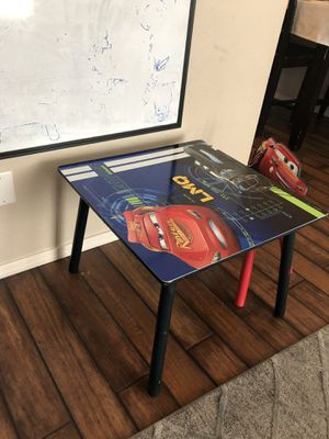 Cars kids table and chair for Sale in Phoenix, AZ