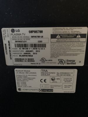 "LG 60""inch Plasma 2013 for Sale in Carmichael, CA"