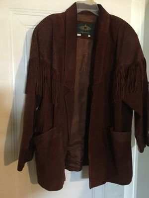 Vintage leather fringe jacket for Sale in Meriden, CT