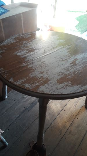 Antique Dinning room table 4 chairs and Hutch/armoire $150 for Sale in Downey, CA