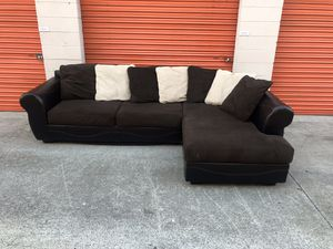 Dark Brown Microfiber Sectional Couch -I can deliver for Sale in San Diego, CA