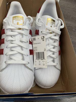 Adidas Superstar White/Burgundy/Gold (Retail $79.99) for Sale in Orlando, FL