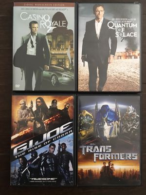 Action Movies 007 Casino Royal, Quantum of Solace, Gi Joe, Transformers for Sale in Buena Park, CA