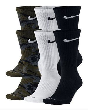 Nike 6 Pack Camo Variety Crew Socks for Sale in West Valley City, UT