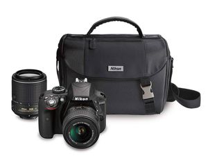 Almost NEW Nikon D3300 DSLR with two lenses for Sale in Costa Mesa, CA