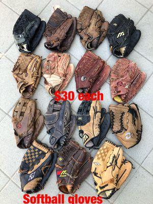 Softball gloves easton mizuno Rawlings demarini equipment bats for Sale in Los Angeles, CA